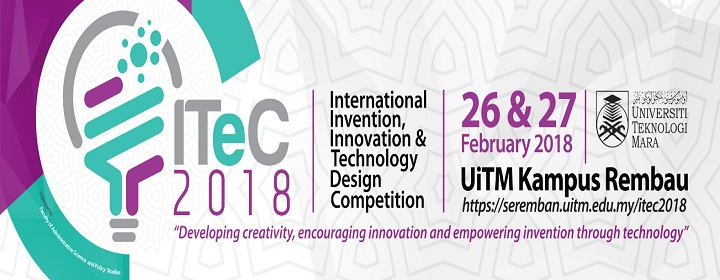International, Invention, Innovation & Technology Design Competition 2018